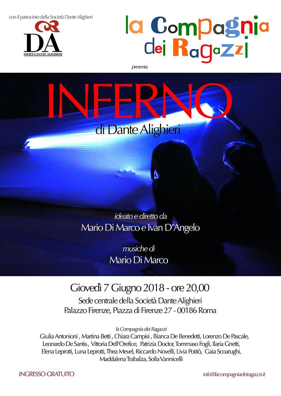 """La Compagnia dei Ragazzi in """"INFERNO"""" di Dante Alighieri"""